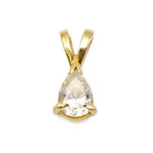 Jewelry - 14k Yellow Gold Pear-shape Solitaire Pendant